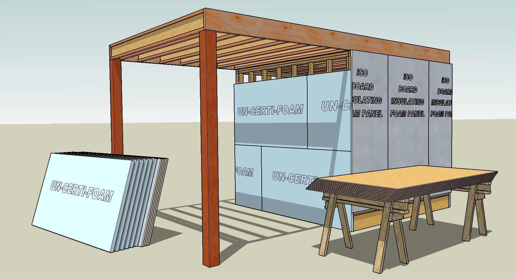 Drawing Lumber With Sketchup Series Part 6 How To Draw Osb And Styrofo Osb Lumber Roof Sheathing