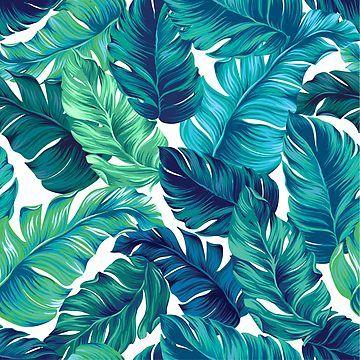 'Funky banana leaf pattern. ' Scarf by Elena Belokrinitski #tropicalpattern
