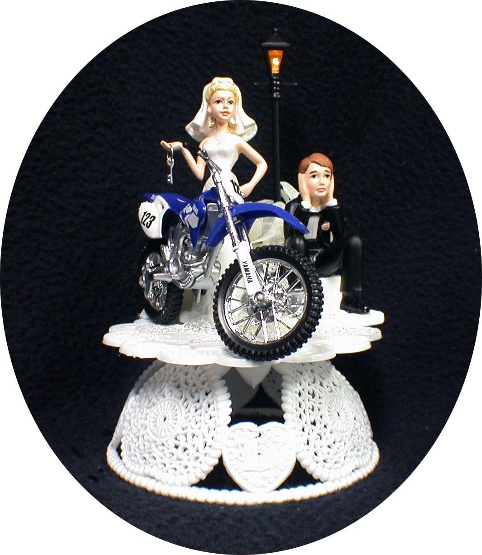 Off Road Dirt Bike Motorcycle wedding Cake topper YAMAHA   Dirt ...
