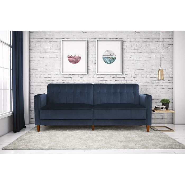 Hammondale Pin Tufted Convertible Sofa Furniture Velvet Room