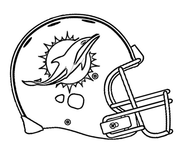 Football Miami Dolphins Coloring Page | Kids Coloring Pages | Pinterest