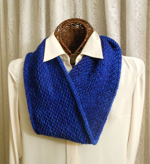 8acca5212f6f textured cowl in cobalt blue