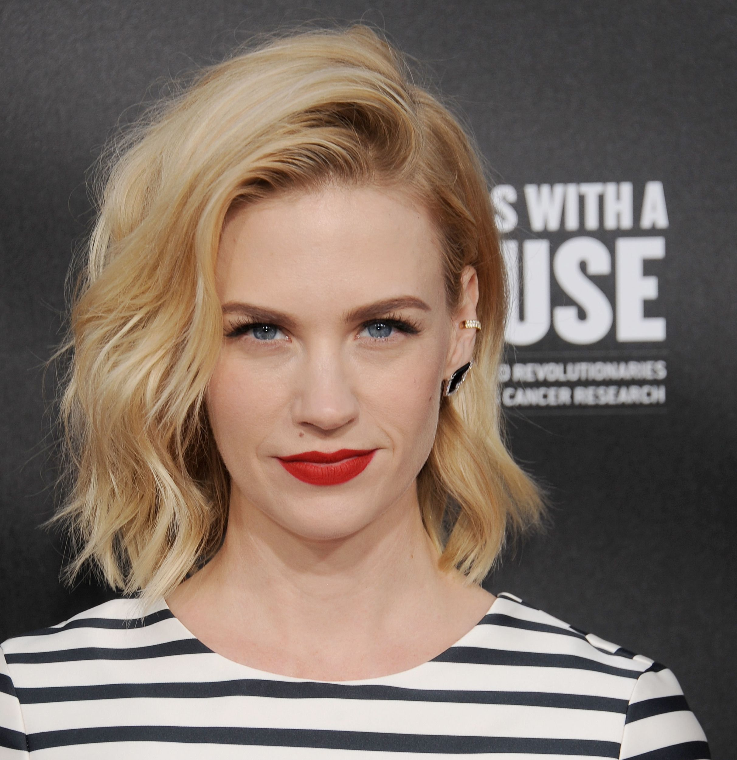 The lob this summerus hottest hair cut january jones lob and make up