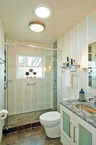 Walkin showers replace unneeded bathtubs  Bathroom Design  Bathroom design small Bathroom