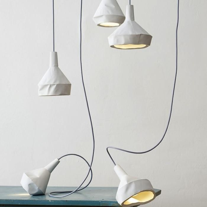 crumple white pendant lamp lighting. Aren\u0027t These Interesting. Made Of Concrete Although They Look Like Porcelain Or Crumpled. LightConcrete Crumple White Pendant Lamp Lighting