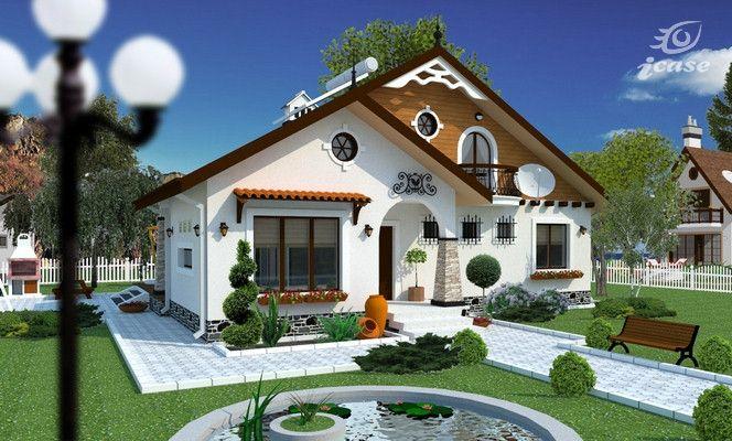 Detaliu proiect de casa casa cu etaj ce 041 proiecte for Proiect casa clasica b 178 m