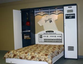 This Is A Murphy Bed That Was Ordered By Customer To Commemorate The Old Yankee Stadium It Built Resemble Five Lockers