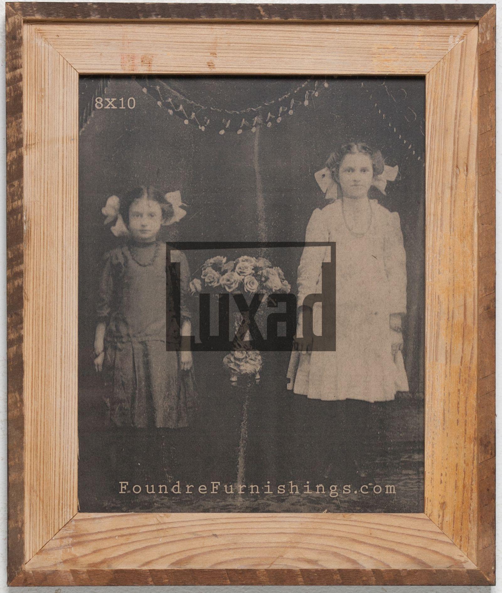 Bilderrahmen aus recyceltem Holz mit Kontrastrahmen für 20x25 cm ...
