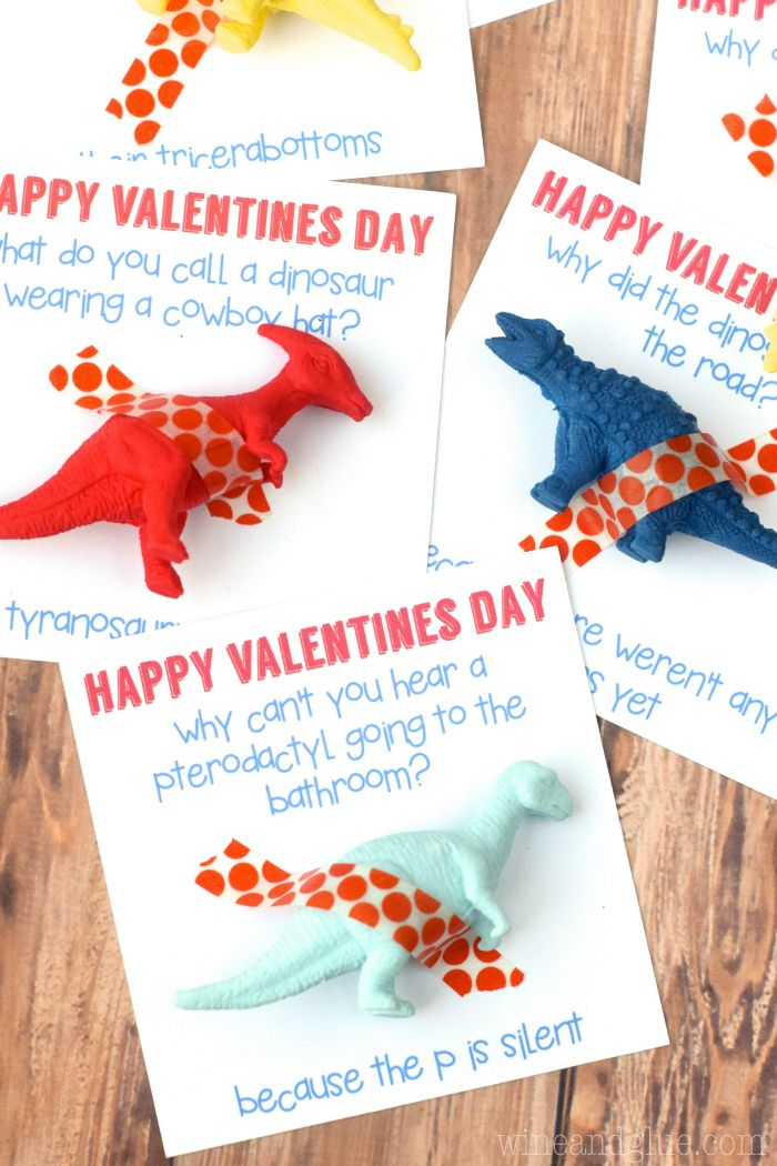 A cute Dinosaur Valentine that comes complete with a funny ...