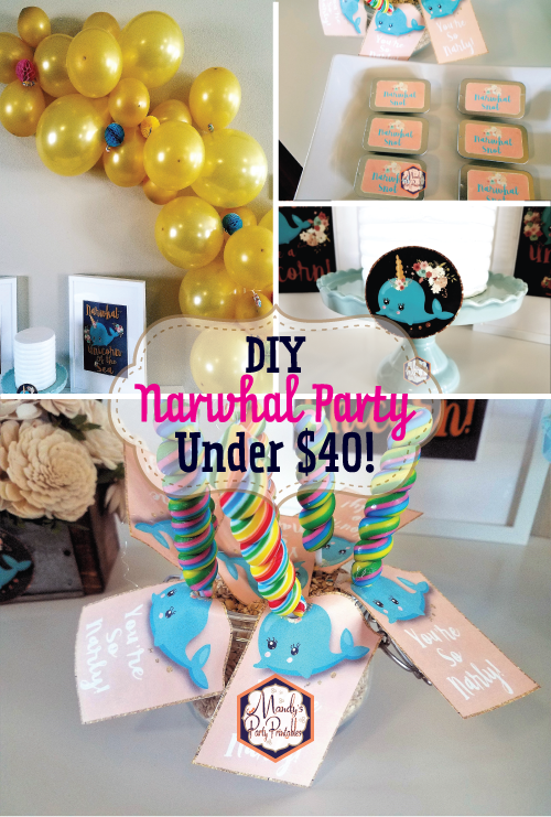 Diy Narwhal Birthday Party On The Cheap Cheap Birthday Party
