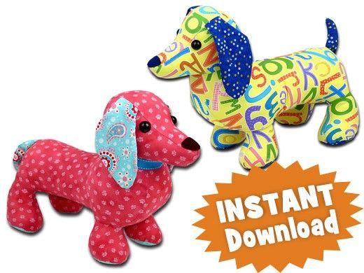 Dachshund toy pattern dog | Craft | Pinterest
