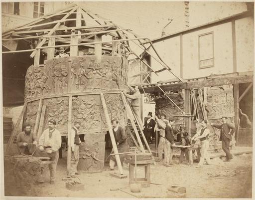 paris 1873 restauration de la colonne vend me ouvrier. Black Bedroom Furniture Sets. Home Design Ideas
