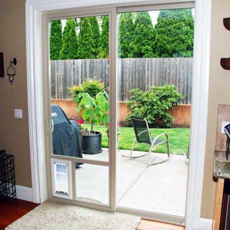 how to install a dog door in a glass door sliding