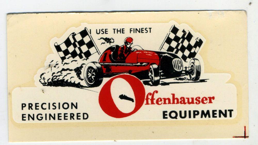 speed hot water Offenhauser shop vtg  equipment offy decal