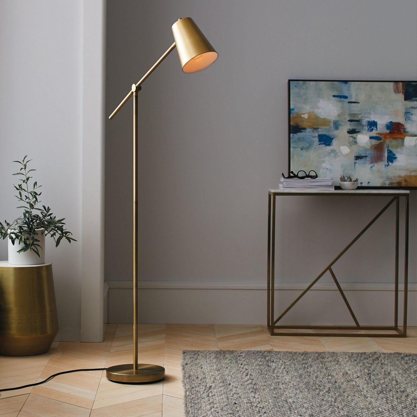 Cantilever Floor Lamp Brass Project 62™ Floor lamps