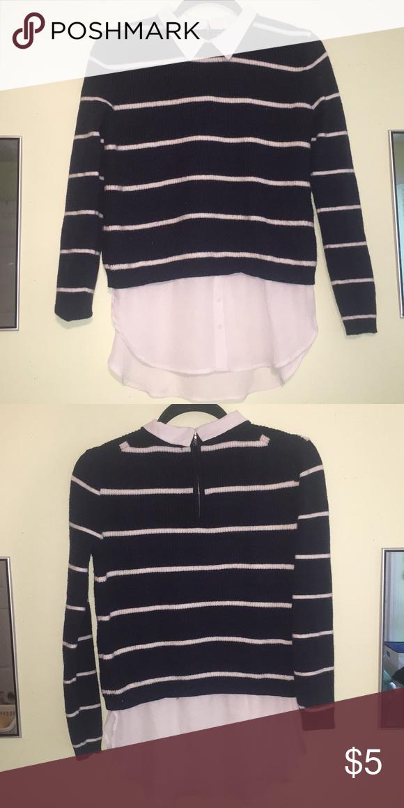 Striped Collar Sweater Super soft 4931a02db