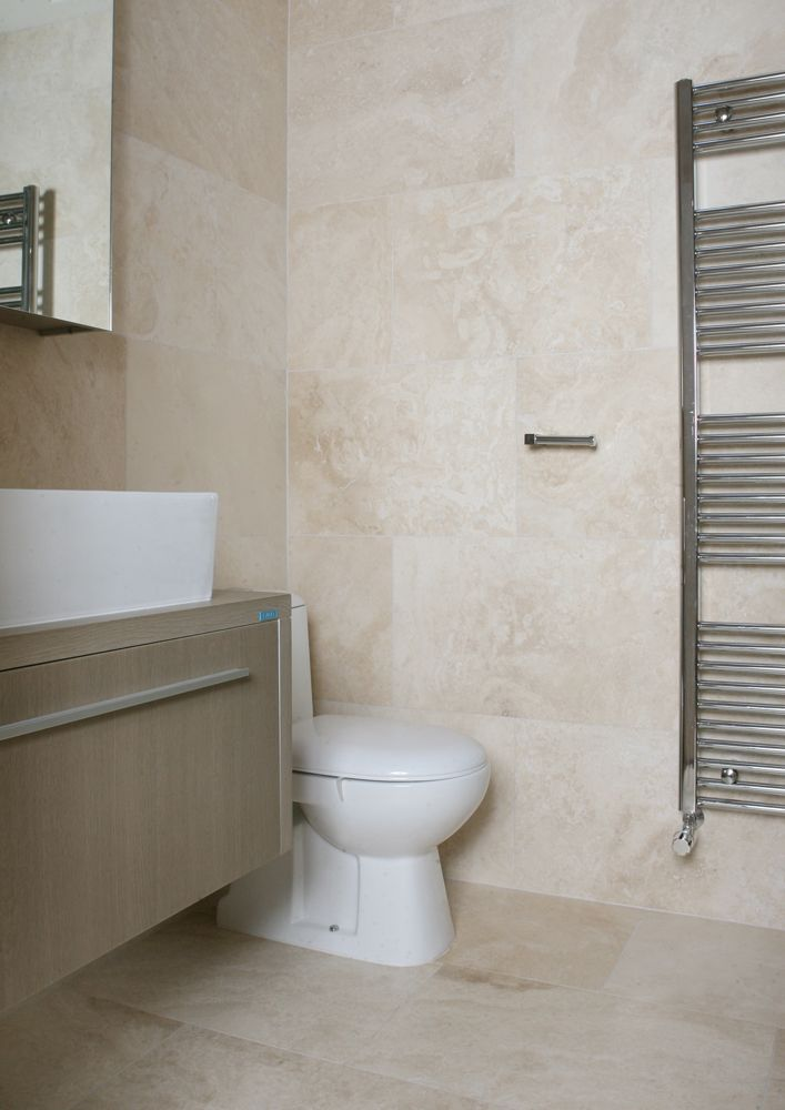 Beige Stone Bathroom Tiles