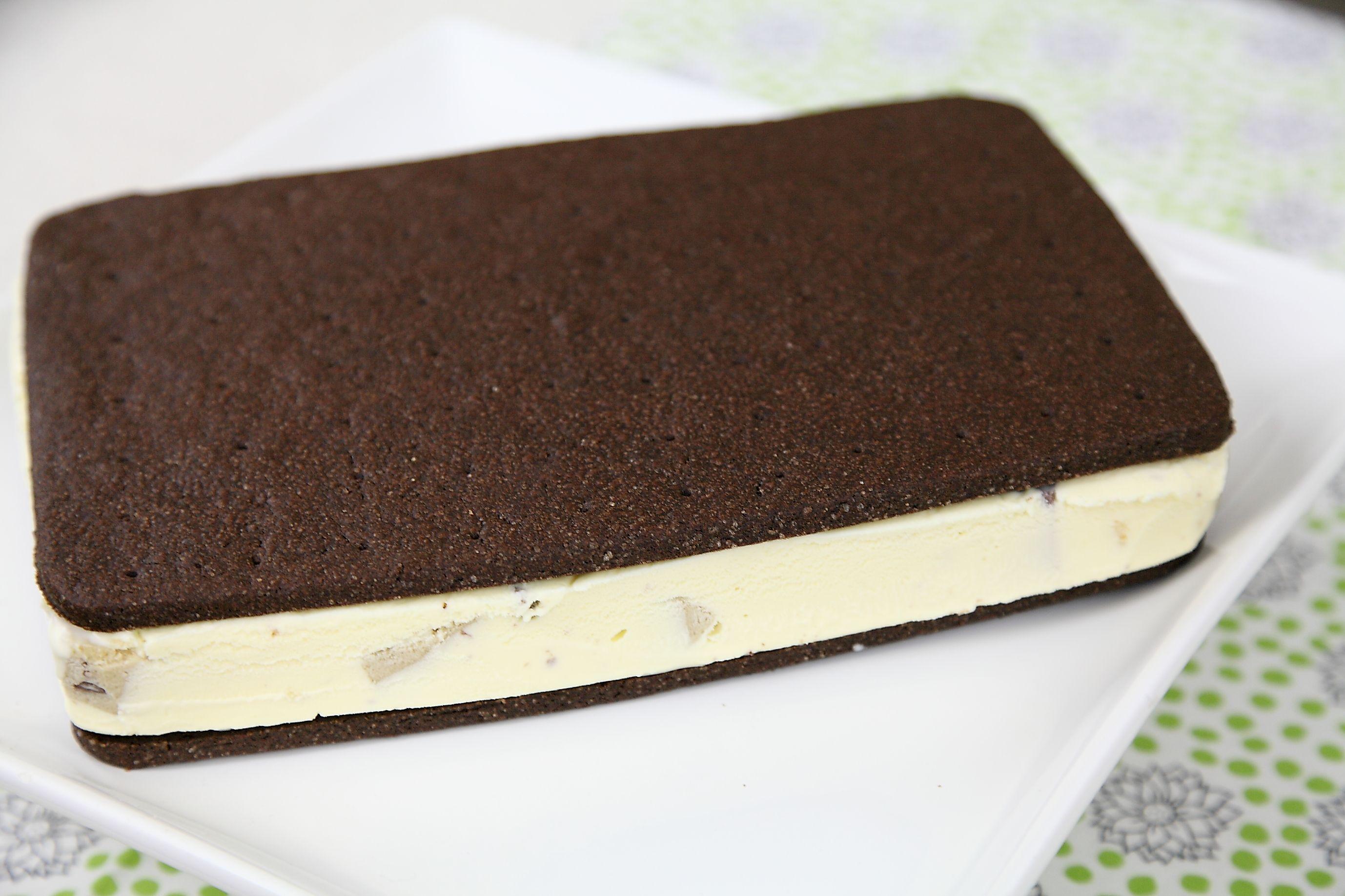 Choc Chip Cookie Dough Ice Cream Sandwich