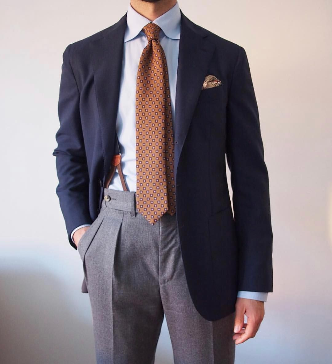 Here S To A 2019 Of Taste And Class The Blue Blazer Grey Trousers Combo Is The Quintessential Styleforu Blazer Outfits Men Mens Clothing Styles Mens Outfits [ 1185 x 1080 Pixel ]
