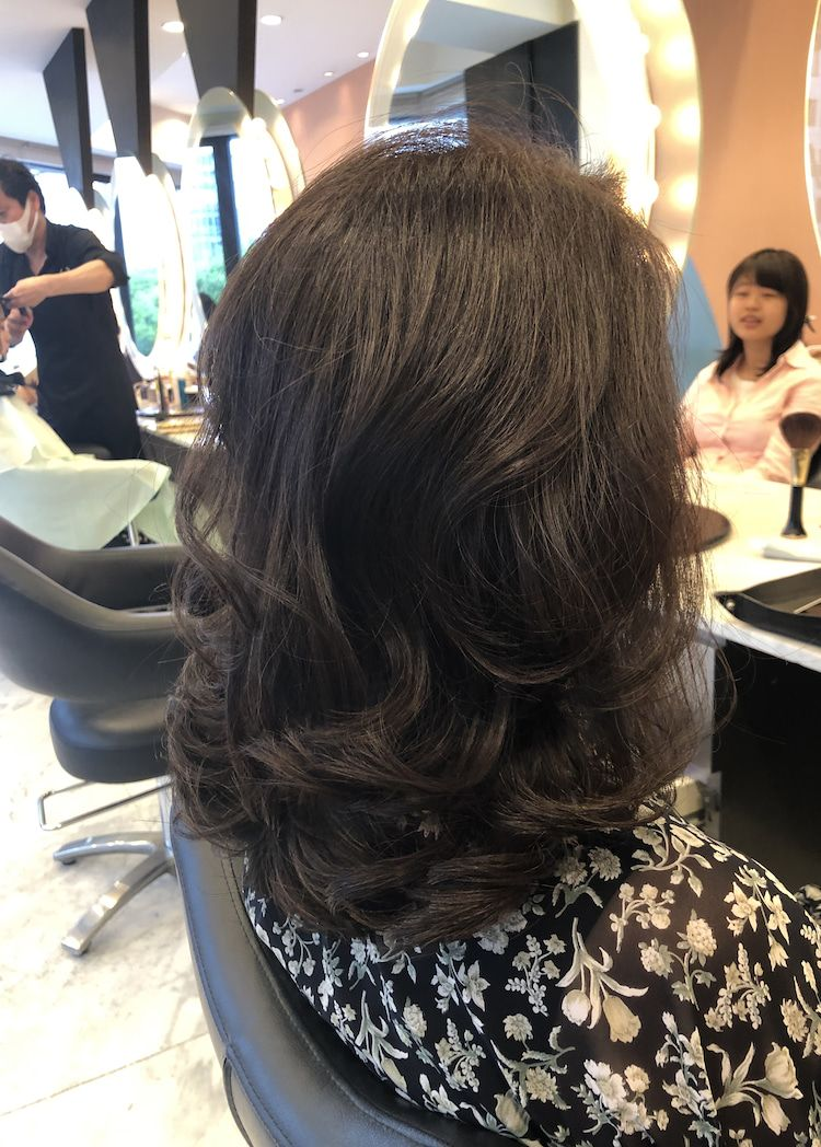 40代50代60代ヘアスタイル髪型 ミディアム ヘアスタイリング 60