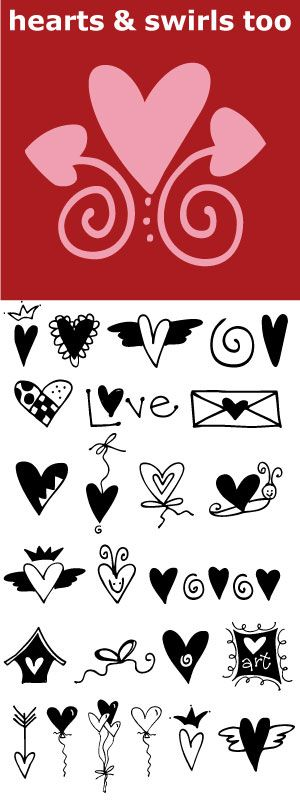 Many ways to say I Love You. Hearts for all your Valentine and Wedding needs.