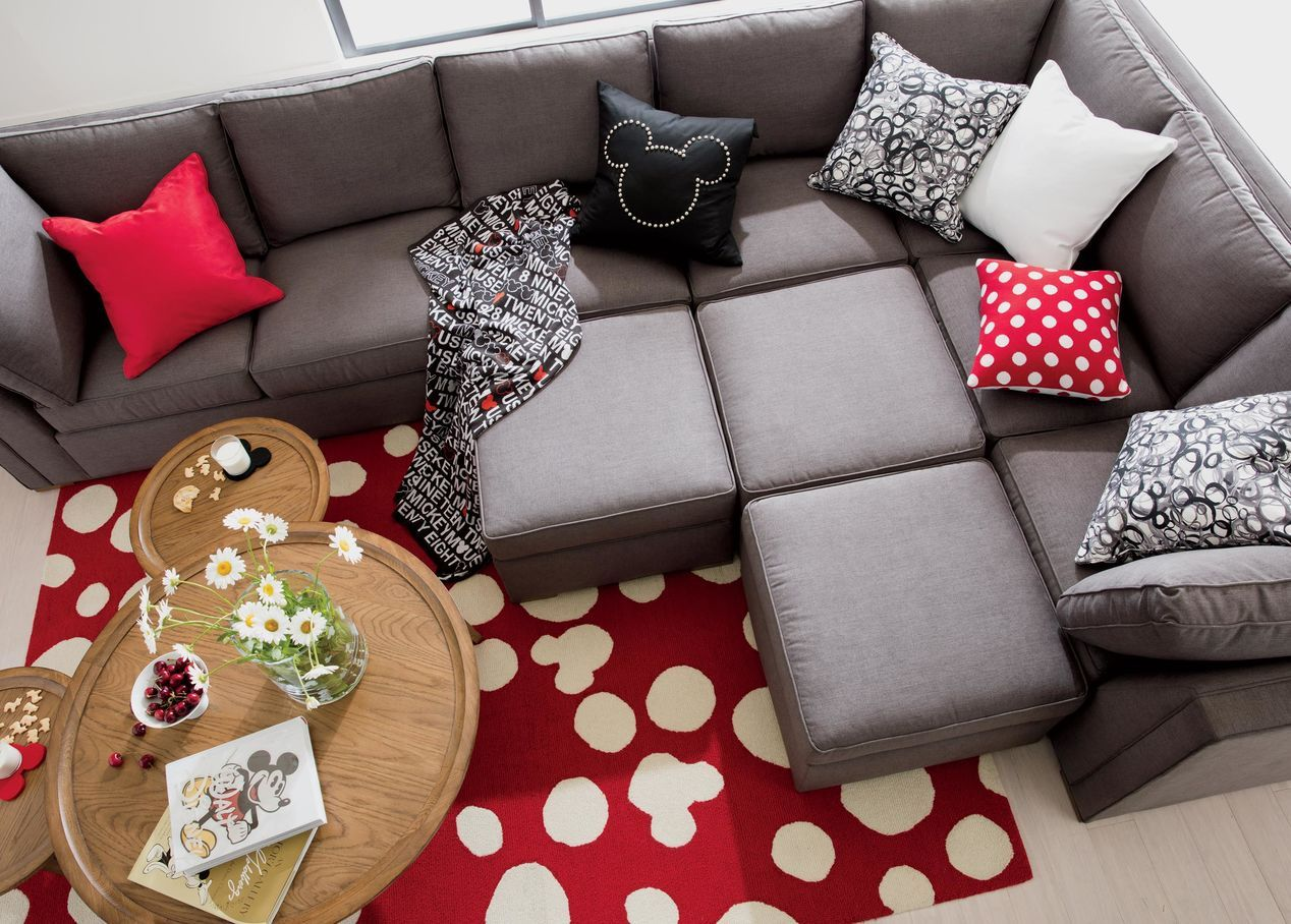 Meeting Place Sectional, in Zest Charcoal | ETHAN ALLEN ...