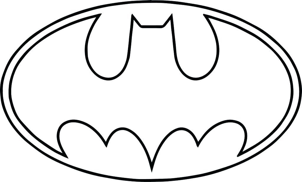 Batman Symbol Coloring Pages Batman Symbol Coloring Page