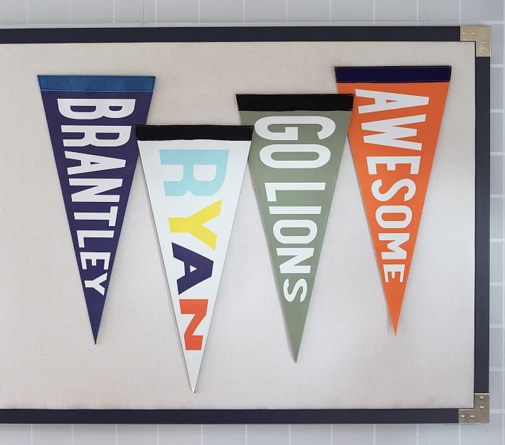 Personalized Pennant Flag Pennant Flags Pennant Banners Burlap Pennant Banners