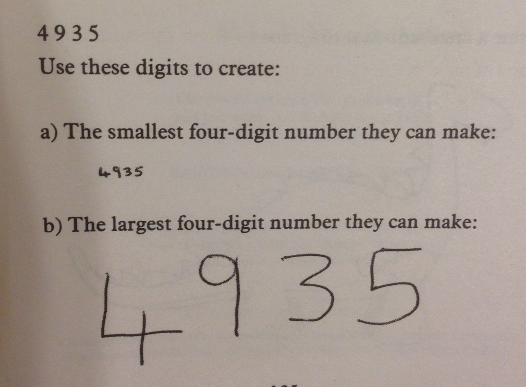 The Largest Four Digit Number