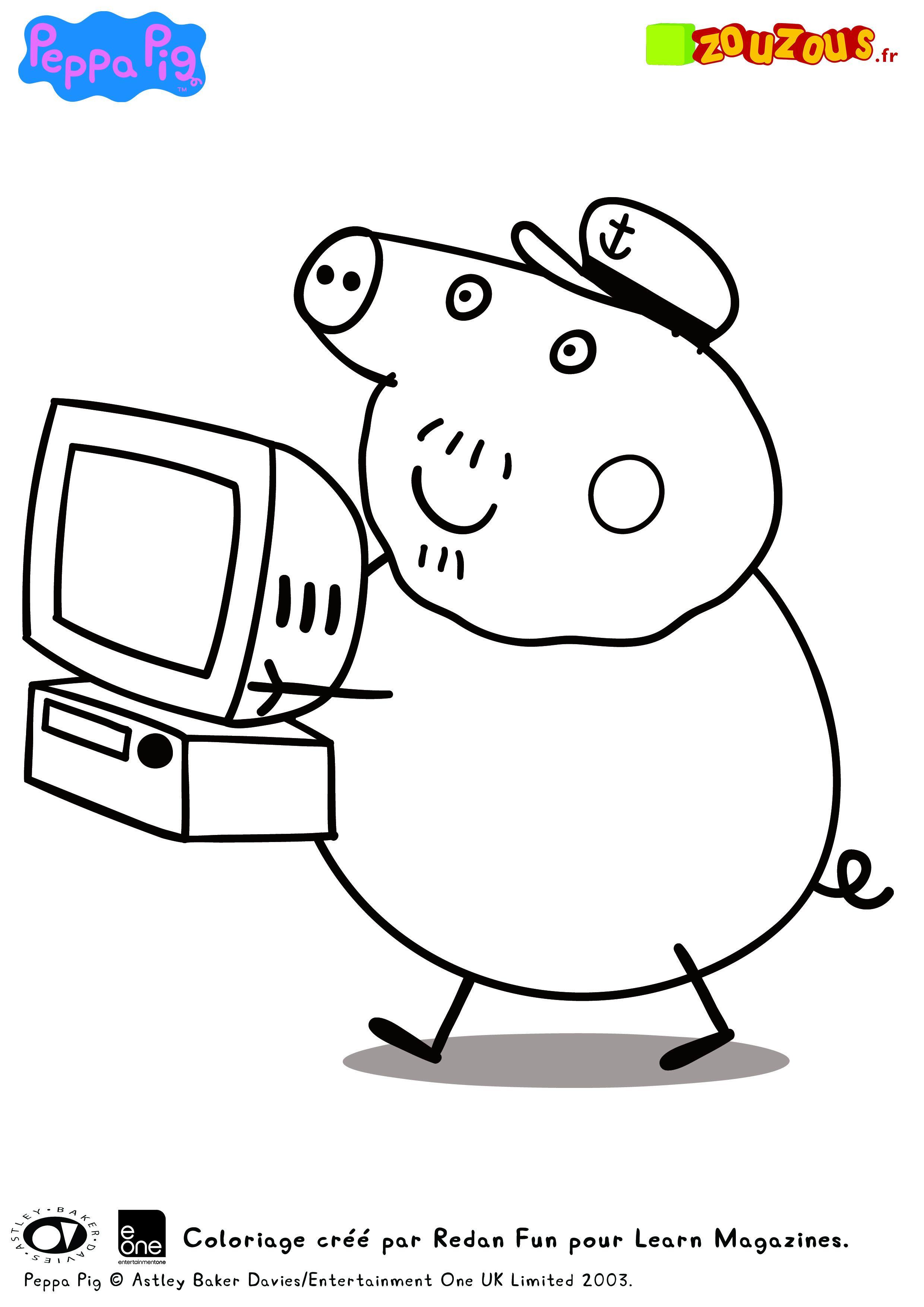 Les Coloriages De Peppa Pig Zouzous Dessins Animés Pour
