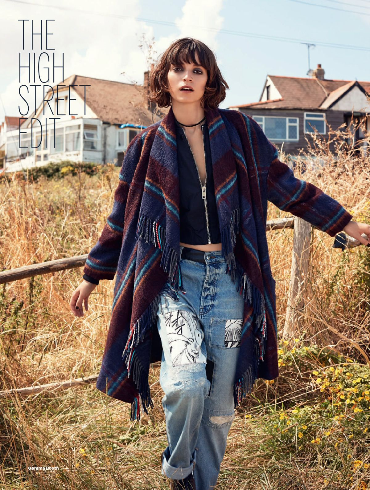 Rebeca Marcos by Gemma Booth for Elle UK November 2014 | OUTERWEAR ...