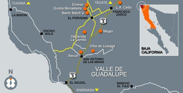 Mapa Vino Baja California