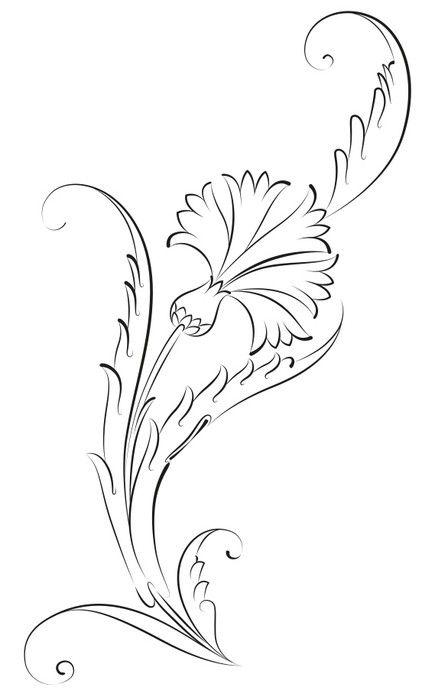 Fototapete Carnation Blumen-Muster-Fliesen- • Pixers® – Wir leben, um zu verändern
