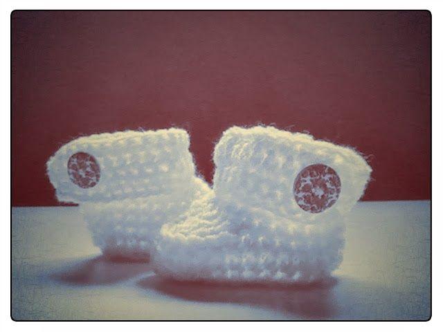 Margarita Knitting: Como se hace: botas para bebe a crochet
