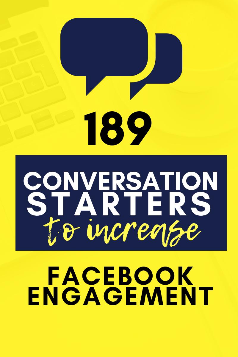189 Conversation Starters for Facebook Engagement