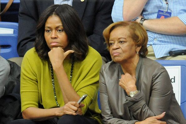 First Lady Michelle Obama with her Mother,  Mrs. Marian Robinson