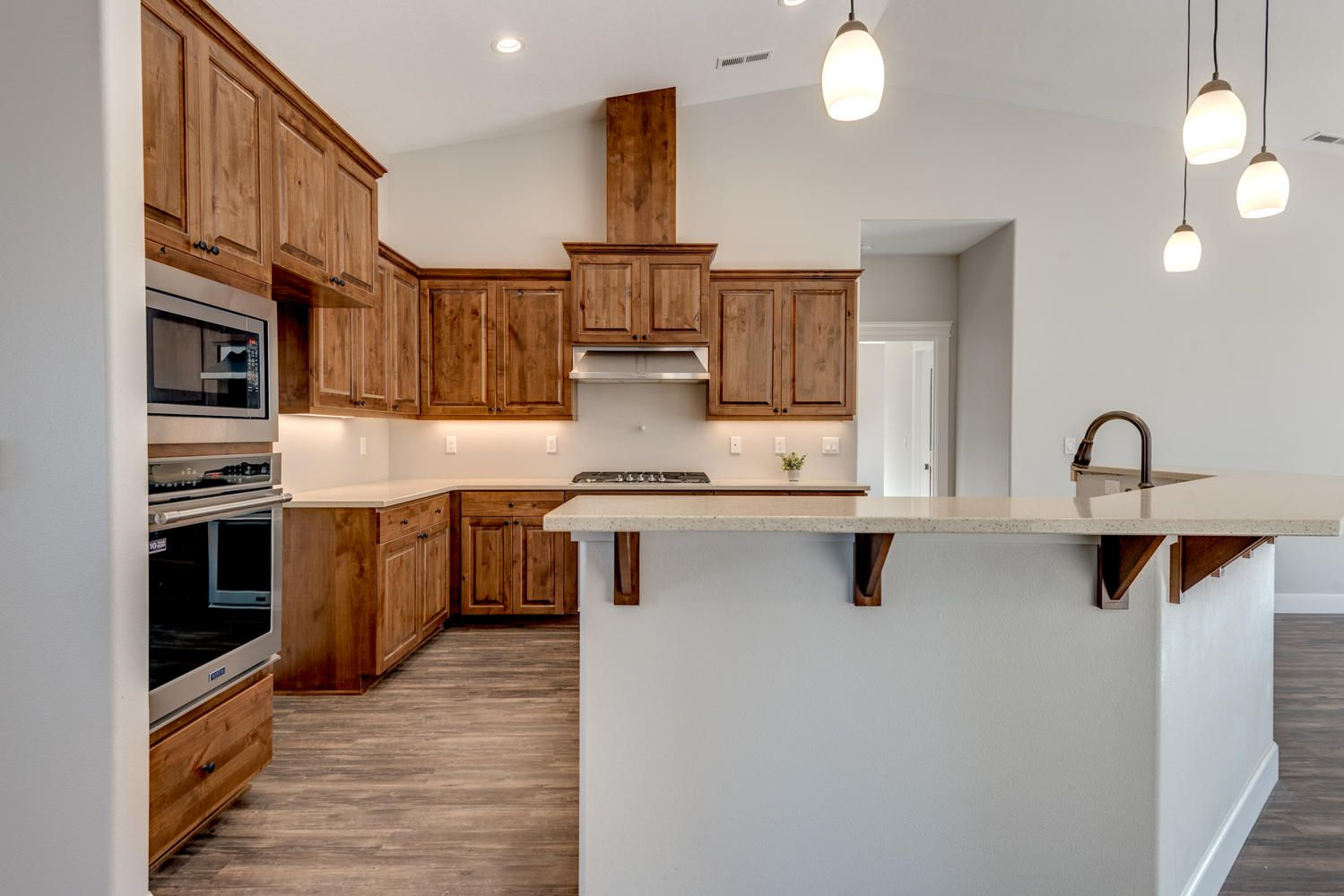 Kitchen From The Inside Of A Recently Finished 2256 Sq Ft Blakely Plan Adair Homes Custom Homes Home