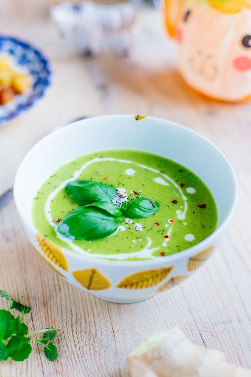 grön ärtsoppa vegan