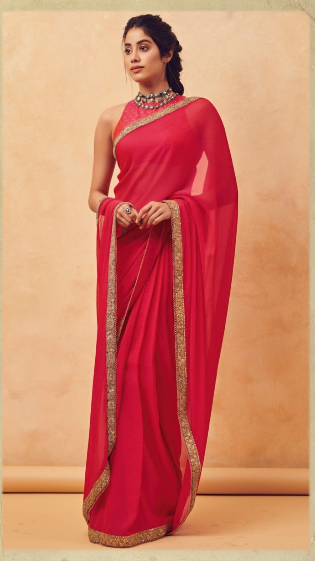 Janvi kapoor amazing pink saree | Stylish sarees, Saree look, Party wear sarees