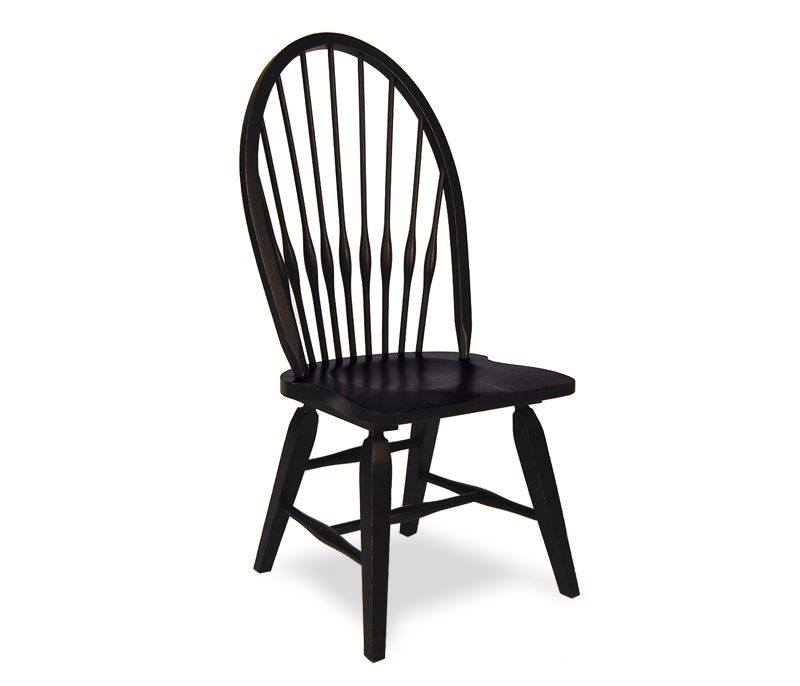 High Quality #LGLimitlessDesign #Contest Boston Interiors: Rustic Windsor Side Chair    Black