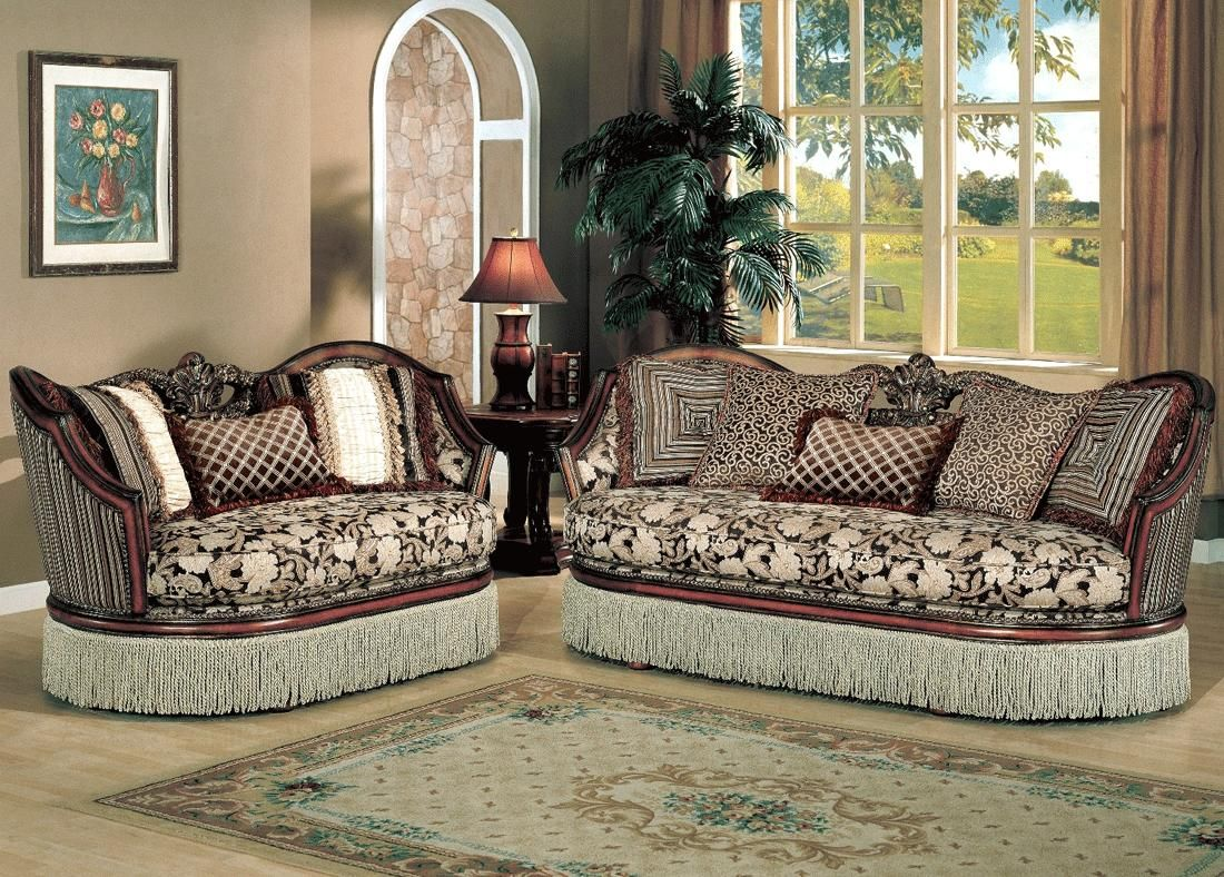 Furniture Fabric Sofa Set With Brown Color And Beauty Style Elegant With Smooth Living Room Sets Furniture Formal Living Room Furniture Living Room Furniture