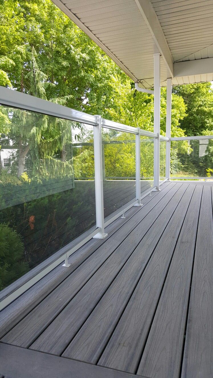 Regal Ideas Tempered Glass Panels With White Aluminum