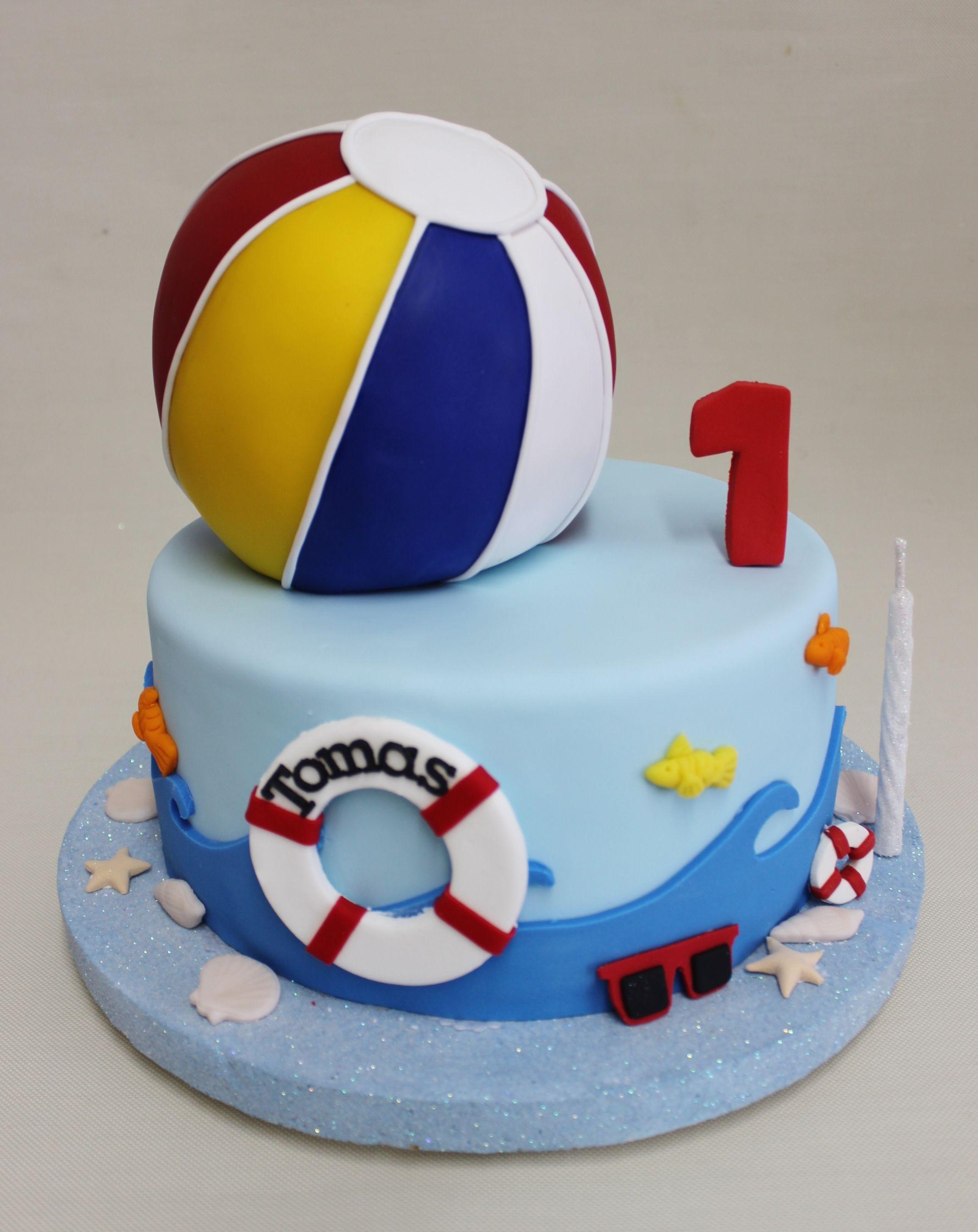 Pool Party Cake Bizcochos Para Cumpleaos De Nio Pinterest