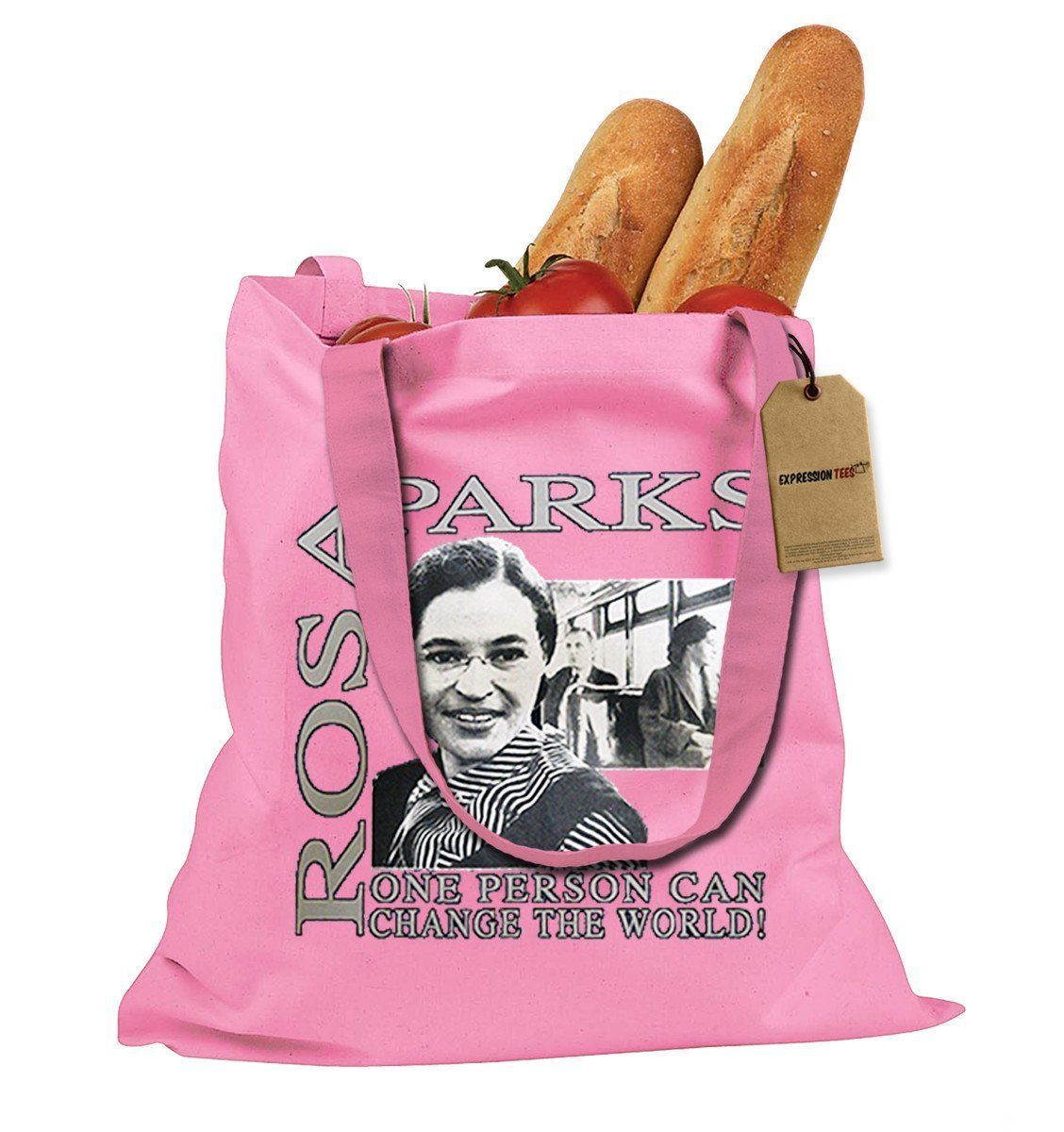 Rosa Parks African American Hero Shopping Tote Bag