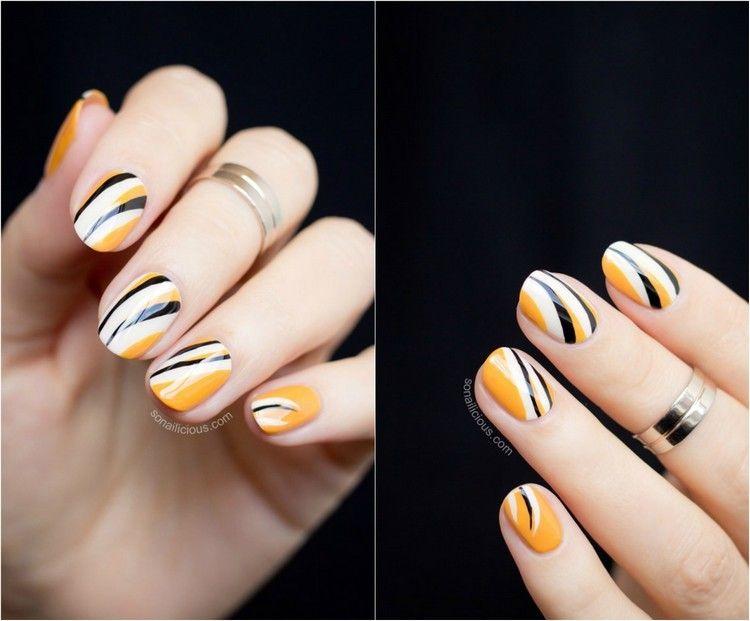 Decoracion de uñas tendencias modernas para el 2016 Amarillo - uas modernas