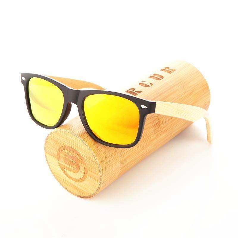 c014083da7a Rtbofy Wood Sunglasses Women Bamboo Frame Eyeglasses Polarized Lenses  Glasses Vintage Design Shades …
