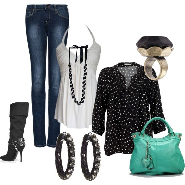 classic black and white, created by butterfly285 on Polyvore
