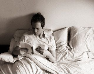 Librocubicularist. (n.) a person who reads in bed.