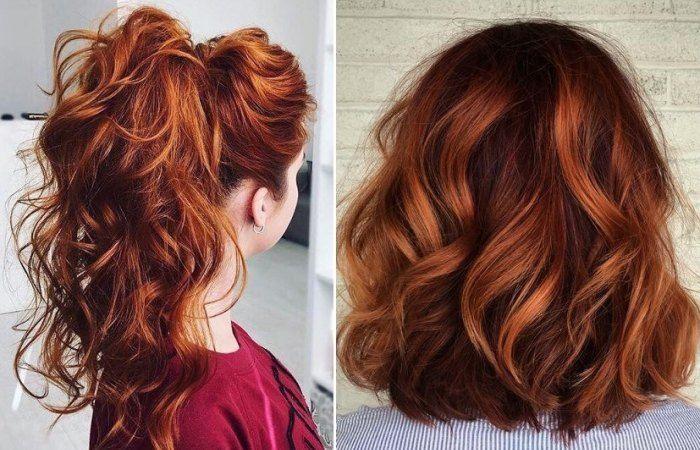 Cheveux on craque pour le balayage cuivré en 2019