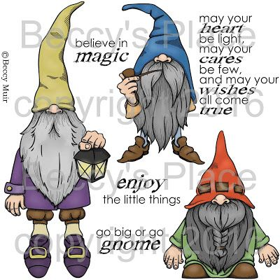 Gnomes In My Garden Beccy's Place Available for purchase at www.beccysplace.com